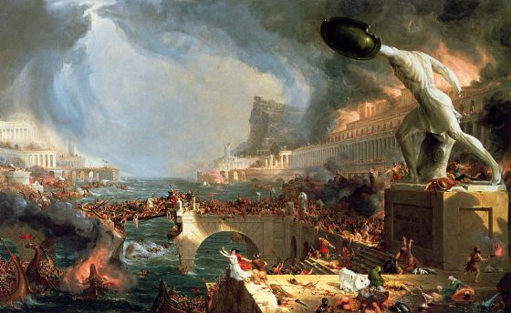 El óleo 'The course of Empire. Destruction' (1836), de Thomas Cole.