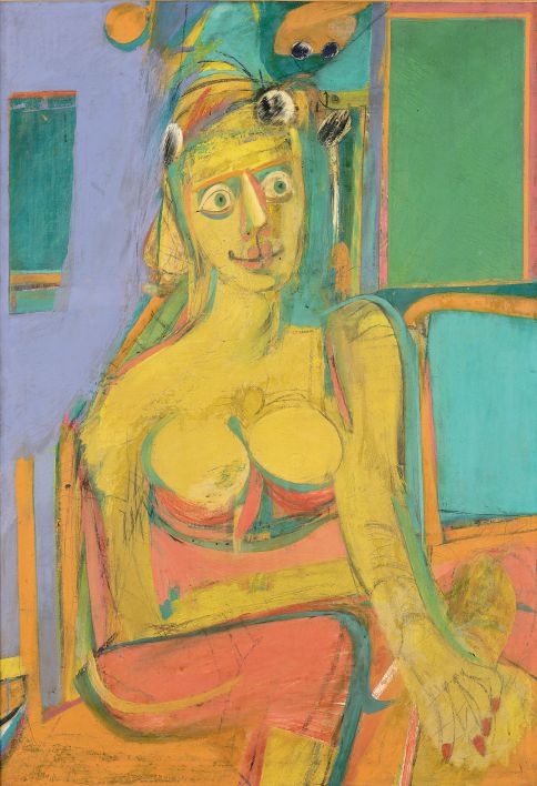 Willem de Kooning, Woman, 1944, Öl und Kohle auf Leinwand, 116,8 x 81,3 cm, New York, The Metropolitan Museum of Art, Sammlung Thomas B. Hess. © Willem de Kooning Foundation, New York | VG Bild-Kunst, Bonn 2012