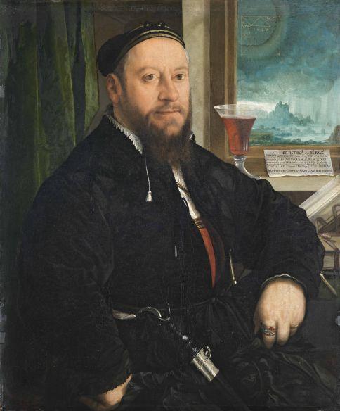 Christoph Amberger 'Retrato de Matthäus Schwarz', 1542. MUSEO THYSEEN-BORNEMISZA