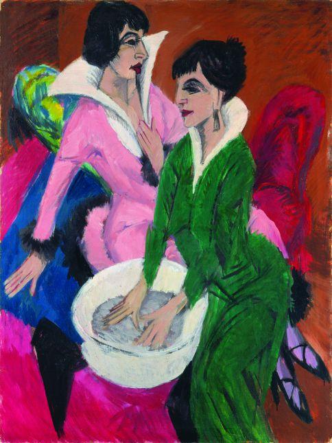 'Dos mujeres con aguamanil (Las hermanas)', 1913 Städel Museum, Fráncfort del Meno, propiedad de Städelscher Museums-Verein e.V. © BLAUEL/ GNAMM/ ARTOTHEK