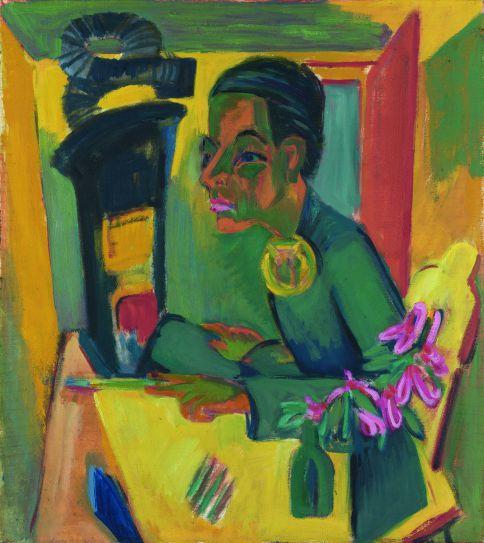 'El pintor (autorretrato)', 1919-1920 Staatliche Kunsthalle Karlsruhe 2011. © A.FISCHER/ H.KOHLER